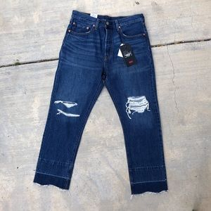 NEW Levi's 501 Cropped Jeans 31 x 28